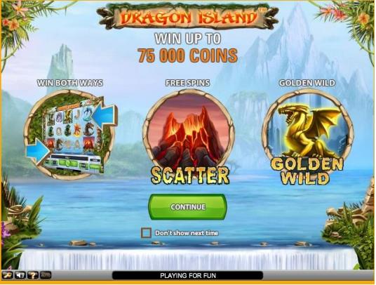 DRAGON ISLAND slotのレビュー